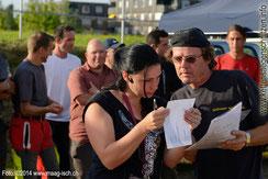 Besprechung: Susanna Simo (Vereinspräsidentin) und Paul Widmer (Jurymitglied 2014)