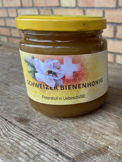Bienenhonig  aus der Region Thun vom petershof