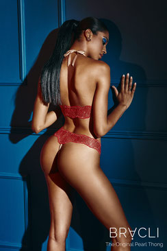 Bracli Sydney Perlenstring Single in rot