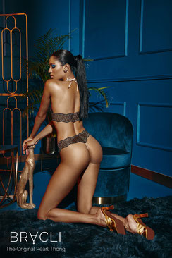 Bracli Sydney Perlenstring Single in schwarz