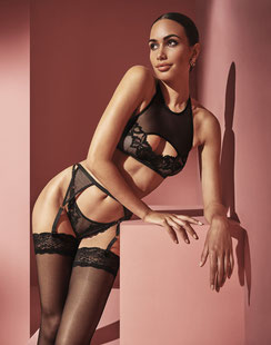 Bracli London Top, G-String und Suspender