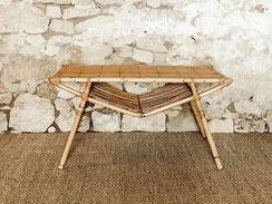 table rotin vintage