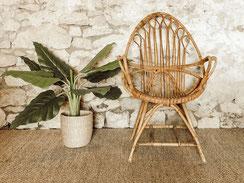 Location fauteuils en rotin vintage