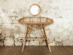 Location mobilier / meubles vintage en rotin