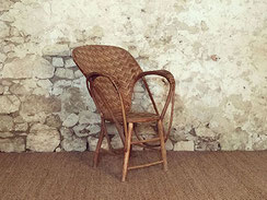 fauteuil chataigner vintage