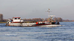barge on the river Rhine