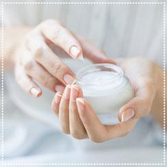 Pflege Haut Hände Gesicht