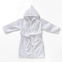 Kids and baby hooded terry bathrobe