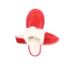 Pantoufles fourrées femme framboise à talon Pantoufles cuir de vachette intérieur peau naturelle synthétique peau talon ergonomique semelle antidérapante chaussons savates mules mule acheter rouge femme marron