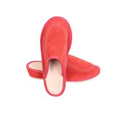 Pantoufles cuir de vachette intérieur peau naturelle synthétique peau talon ergonomique semelle antidérapante chaussons savates mules mule acheter rouge femme marron voute plantaire chaussons talon
