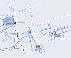 Animierter Stadtplan mit gHWV-Standorten