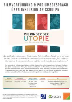 Flyer zur Veranstaltung, Text steht rechts