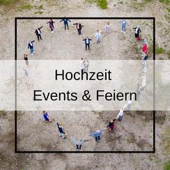 Luftaufnahmen für Feiern und Events