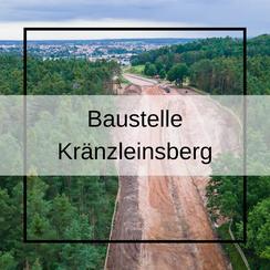 Baustelle Kränzleinsberg Hilpoltstein Baustellenfortschritt aus Luft