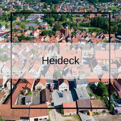 Luftbildaufnahmen Stadt Heideck mit der Drohne