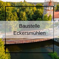 Baustelle Brücke Roth Eckersmühlen