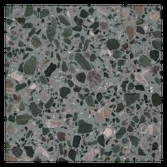 Terrazzoplatte grün/braun - Terrazzofactory