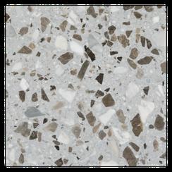 Terrazzoplatte weiss/braun- Terrazzo Factory