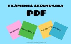 Exámenes secundaria inglés PDF.