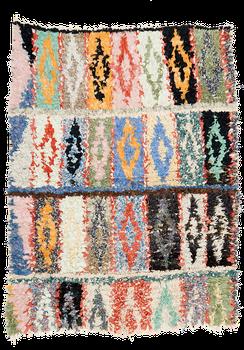 Teppich. Zürich. Vintage Boucherouite rug, wool and cotton. Handgemachter Teppich. Laden, Zürich,  Tapis boucherouite, vintage 1980, shop à Zurich.