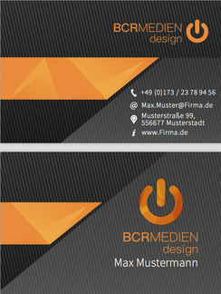 Business Card Visitenkarten Muster Elegant Orange designen Eligant Style