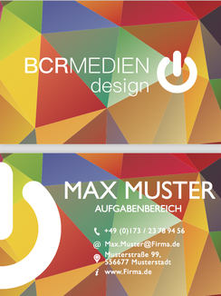 Visirenkarten Business Card Farbenspiel Play of Colour Card