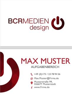 Vorlage Muster Visitenkarte rot telefon adresse
