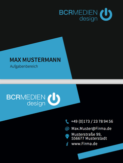 Blue Moon Visitenkarten Busniess Card Muster Vorlage