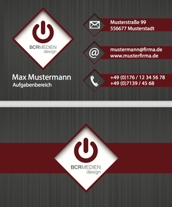 Red Giant Visitenkartenvorlage Business Card