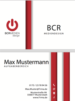 Red Devil Business Card Visitenkarten