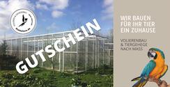 Gutscheine, Geschenkartikel, Volieren, Online Shop, DieVoliere.de