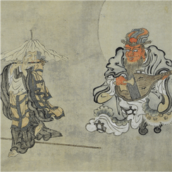 Ashi Kyōdō (1808-1995) | Jizō and Enma Playing Music Together