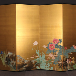 Nakagawa Wadô (1880-1943) | Flower and Bird Screen