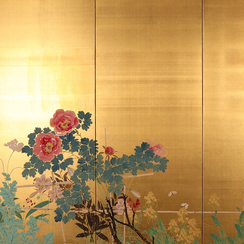 Nakagawa Wadō (1880-1943) | Flower and Bird Screen