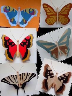 Papillons en marqueterie - Atelier Eclats de bois 38