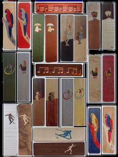 Marque-page en marqueterie - Atelier Eclats de bois 38