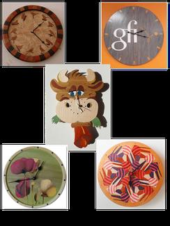 Pendules en marqueterie - Atelier Eclats de bois 38