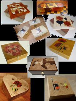Boites en marqueterie - Atelier Eclats de bois 38