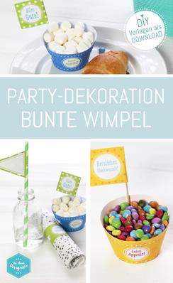 DIY-Set bunte Geburtstagsparty. Downloaden, Basteln, Feiern! Auf www.die-kleine-designerei.com