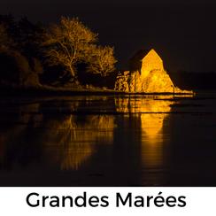 Urlaub mit HUnd in der Normandie: DieGrandes Marees am Havre von Saint-Germain in der Normandie sind ein unvergleichliches Naturschauspiel