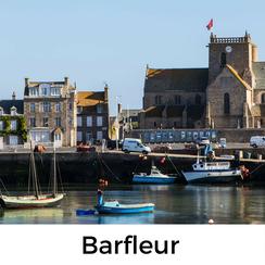 Barfleur auf der Halbinsel Cotentin in der Normandie ist eines der schönsten Dörfer Frankreichs