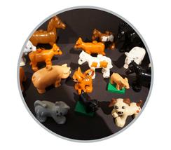 Hier finden Sie Duplo Tiere. Von Bauernhoftieren über Zootiere und Haustiere - hier ist alles vertreten.