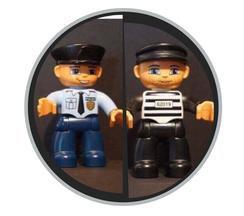 Hier finden Sie Duplo Figuren zum Thema Polizei und Gangster