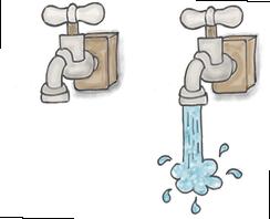 Wasser aus dem Wasserhahn Illustration