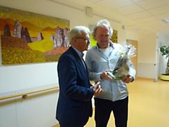 Dr. Zeuner und Herr Sehrt auf der Palliativstation