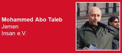 23.03.2019 - Berlin: Solidaritätskundgebung zum 4. Jahrestag saudischer Krieg gegen den Jemen - Redner: Mohammed Abo Taleb - Insan e.V.