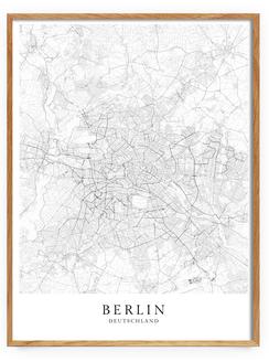 Skandinavische Poster - Berlin Karte
