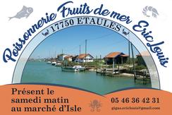 partenaire de la JA Isle Handball Poissonerie fruits de mer Eric Louis