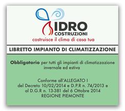 Rilascio libretto di impianto telematico a Torino per ogni installazione di caldaia a condensazione