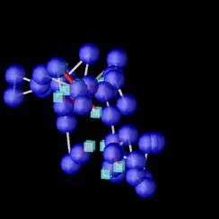 高分子のシミュレーションの様子